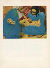 """1959 Vintage EMIL NOLDE """"THE ENTOMBMENT"""" JESUS CHRIST COLOR Offset Lithograph"""