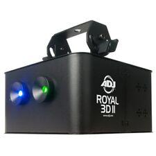 ADJ ROYAL-3D-II Green & Blue Laser DMX Effect -30mW Green 350mW Blue Laser USED