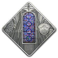 2015 Palau Silver $10 Sacred Art Canterbury Cathedral - SKU #94877