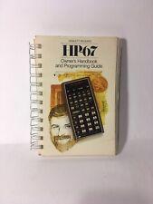 Vintage HP-67 Owners Handbook And Programming Guide. Used