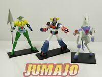 GOL6 LOT 3 figurines résine GO NAGAI HACHETTES 9 à 14 cm GOLDORAK + combattants