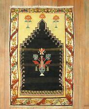 Antique Turkish Oushak Ushak Melas Prayer Rug Size 2'2''x3'2''