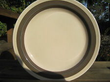 Arabia Finland Vintage Kuusamo Dinner Plate Brown Blue Stripe Discontinued HTF