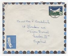 1959 NETHERLANDS Air Mail Cover BAARN To FRIERN BARNET LONDON GB