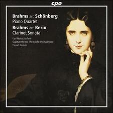 Brahms arr. Schoenberg: Piano Quartet; Brahms arr. Berio: Sonata for Clarinet &