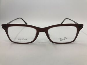 NEW Ray Ban RB7039 Light Ray 5456 Matte Red Eyeglass Frame 51.18.140