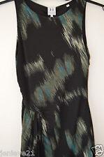 NEW HALSTON Heritage Sleeveless Dress Black Ocean Green 4 lined $395 Stretch