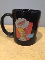 The Simpsons Mug Coffee Cup Tea Homer Lisa Bart Black 2000 Brand New!!