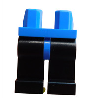Lego 2 Stück schwarze Beine mit blauer Hüfte für Minifiguren 970c11 Hosen Neu