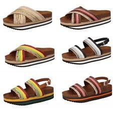 5 PRO JECT sandali zeppe donna in tessuto vari modelli estate multicolor