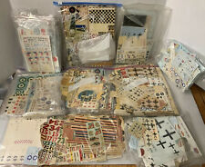 C39-Extremely Large Decal Mixed Lot Planes Aviation, Vintage 100's Of WWII Decal