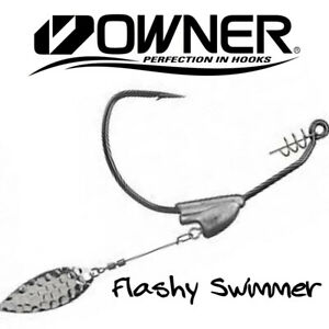 Owner Flashy Swimmer & Beast Swimbait Hooks 5164 Willow - Choose Size / Weight