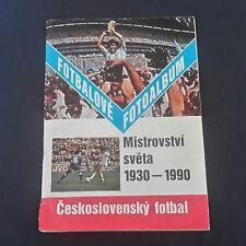 Álbum de fútbol de la etiqueta Engomada de Checoslovaquia Copa del Mundo 1990 con 365 Pegatinas