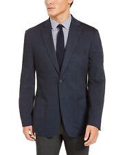 Bar Iii Mens Slim Fit Navy Blue Knit Sport Coat 42r