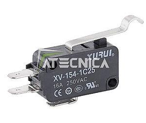 Microswitch NO NC 250V 16A micro-interrupteur à bouton 50g levier courbé