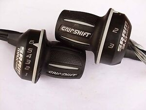 New vintage twist shifters Sram 3 x 6 speed 200-650 200-657 with cable