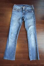 True Religion Women's Medium Wash Becky Bootcut Fit Stretch Jeans Size 24