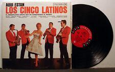 LOS CINCO LATINOS Aqui Estan '61? Columbia MONO 6-eye Argentinian promo NM-