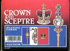 Crown and Sceptre Vintage Playing Cards Non-Standard Double Deck by Piatnik