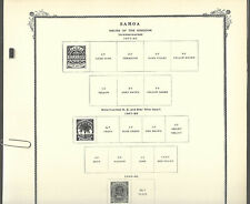 SCOTT SPECIALTY pages for SAMOA...1877/1953...8 pages in Exc cond