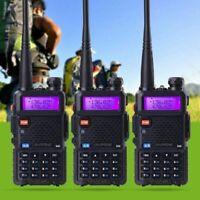 3X BaoFeng UV-5R Two Way Ham FM Radio Walkie Talkie VHF UHF Dual Band Ham Radio