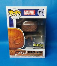 Funko Pop! Spiderman (wood) #719 Entertainment Earth Excl + Protector ~ New