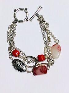 Polished Stone & Charm Bracelet - New