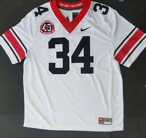 Nike Georgia Bulldogs #34 40th Anniversary Limited Game Jersey CV9120-100 Sz XL