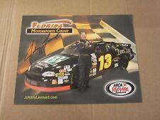 Johnny Leonard Driver Autographed Signed 8.5X11 Photo ARCA Racing
