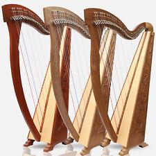 Muzikkon 36 Saiten Trinity Palisanderholz & Walnuss Harfe, Keltisch Irische Bag