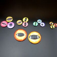 90PCS/lot Mixed Assort Dragon Eye Evil Eye Demon Eye Glass Cameo Cabochon 6-30mm