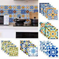 6PCS PVC Self Adhesive Wall Sticker Kitchen Oil-proof Waterproof Wall Decals