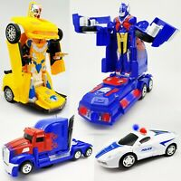 Bump & Go Light Up LED Autobot Transformer Robot Car Truck Toy Action Sound