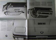 BMW M1 1980 Original German Sales Brochure Pub. No. 0 11 30 03 10