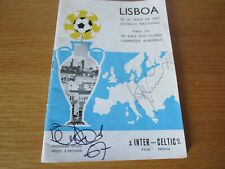 More details for 1967 european cup final : inter milan (italy)  v  celtic (scotland)  autographed