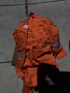 Men's Walls Flame FR Resistant Orange Coveralls  Size 52 TALL Lot Of 3 Ensco