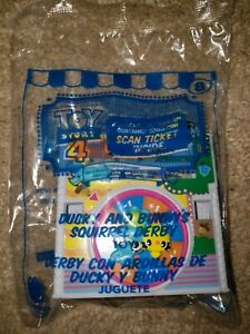 McDonalds Happy Meal Toy Story 4 #8 Ducky and Bunny's Squirrel Derby w Tix