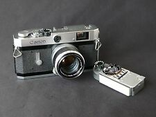 Canon P rangefinder camera with Canon 50mm f/1.8 Lens, Light Meter, Serviced, Ni
