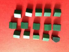 15 Original Vintage Monopoly Wooden Wood Red Hotels Hotel Spares Replacement