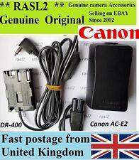 Original Canon ACK-E2 AC-E2 DS8111 + DC Coupler DR-400 EOS 40D 30D D60 D30 Rebel
