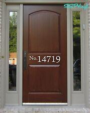 Custom Personalized House Address Number Front Door Vinyl Decal