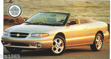 1998 Chrysler SEBRING Convertible SPEC SHEET / Brochure / Catalog