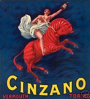 L.Cappiello-CINZANO-vermouth-zebra-Livorno-Cannes-1915.