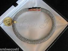 GENUINE ARABESQUES POPCORN MESH SHAMBALLA BRACELET/BANGLE 19cm MAGNETIC SILVER/B