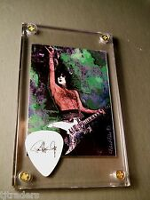 Nice - Paul Stanley Blk on white tour guitar pick / legend trading card display