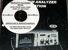 HP 853A Operating & Service manuals (2 volumes)