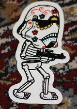"STAR WARS STORMTROOPER MUERTO Art Sticker Print 2.5 X 4"" DIA DE LOS JOSE PULIDO"