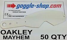 Quantité 50 goggle-shop Tear Offs pour Oakley Mayhem Lunettes Motocross palmes