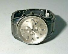MENS FOSSIL ARKITEKT CHRONOGRAPH WATCH SMOKE DIAL STAINLESS BAND FS 4250