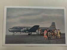 United Airlines 1949 Postcard -DC-6 Mainliner 300s